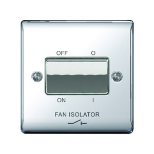 FAN ISOLATOR SWITCH POLISHED CHROME