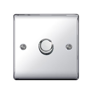 DIMMER 1GANG 2WAY 400W POLISHED CHROME
