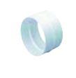 COUPLER 100MM ROUND PVC WHITE