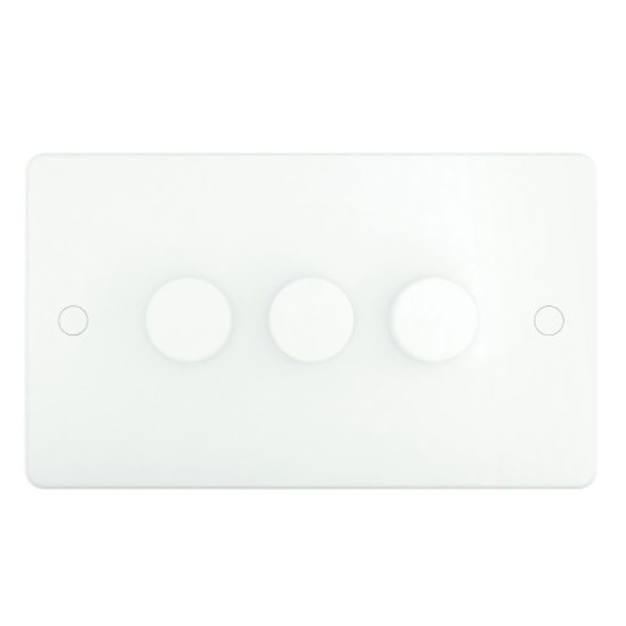 DIMMER 3GANG 2WAY 400W SLIM WHITE
