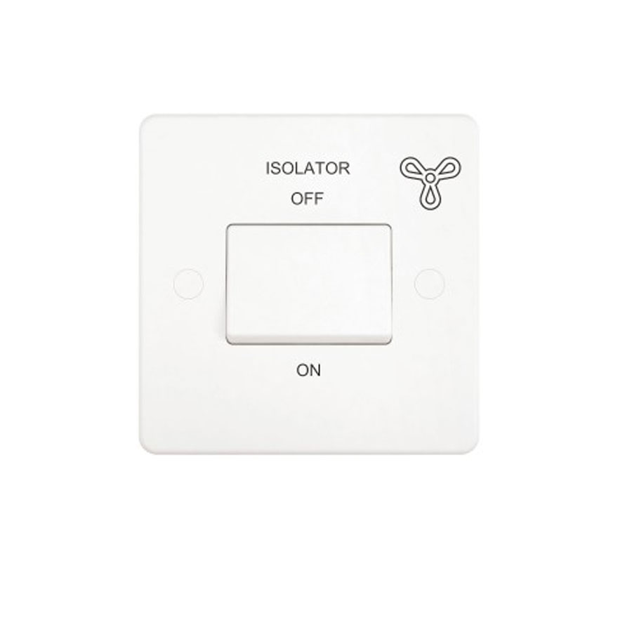 FAN ISOLATOR SWITCH SLIM WHITE