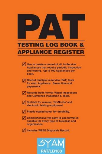 PAT TESTING LOG BOOK
