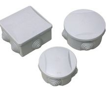 BOX CIRCULAR 65mm Dia. x30mm GREY PLASTIC
