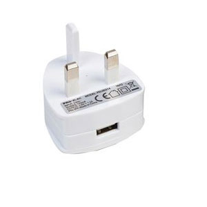 USB PLUG ADAPTOR WHITE 1.2A 5V