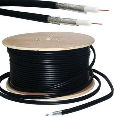TWIN SAT CABLE BLK