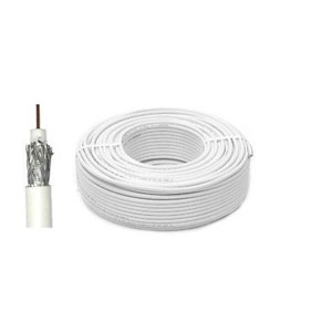 SAT100 / CT100 COAX CABLE WHITE