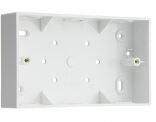 2GANG 32mm PVC SURFACE BOX RADIUS CNR