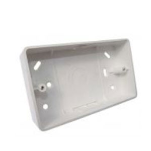 2GANG 32mm PVC SURFACE BOX RADIUS CNR