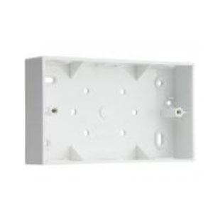 2GANG 32mm PVC SURFACE BOX SQUARE CNR