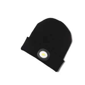BEANIE HAT WITH LED TORCH 80LM