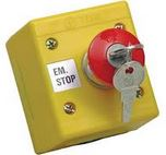 EMERGENCY STOP BUTTON WITH KEY