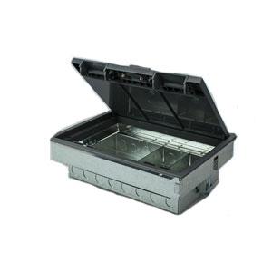 FLOOR BOX 3/4 COMPT 90MM DEPTH - EMPTY
