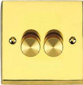 Dimmer Switch Push On/Off 2 Gang 2Way Plain P