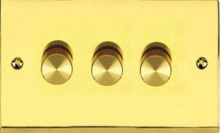 Dimmer Switch Push On/Off 3 Gang 2Way Plain P