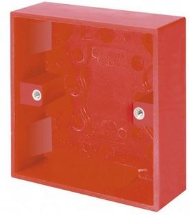 1G RED SURFACE BOX