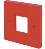 1 GANG 2 MODULE PLATE RED