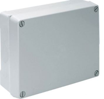BOX 110x110x60mm GREY PLASTIC