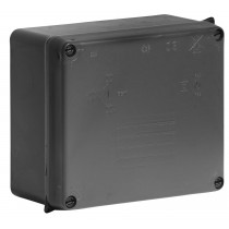 BOX 110x110x60mm BLACK PLASTIC
