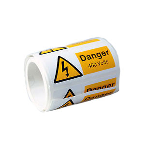 DANGER 400 VOLTS (100)