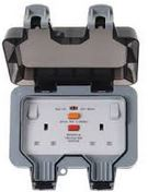 IP66 2G RCD SOCKET NEON