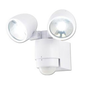 TWINSPOT LED 2X3WATT FITTING WITH PIR WHITE