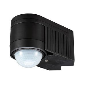 PIR DETECTOR 360 DEGREE 12M RANGE BLACK (LED)