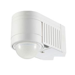 PIR DETECTOR 360 DEGREE 12M RANGE WHITE (LED)